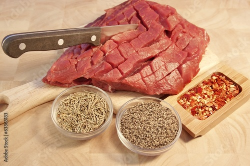 Raw Beef Pepper Steak, XXXL