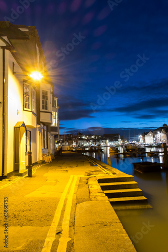 canvas print picture Weymouth Quay Twilight