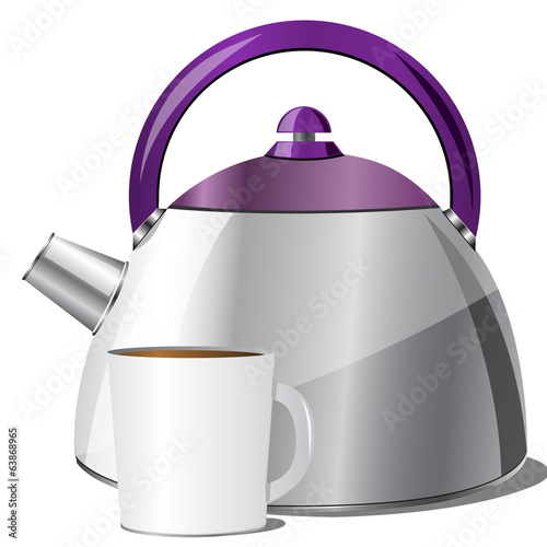 kettle, vector illustration
