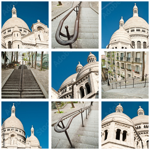 canvas print picture composition Montmartre