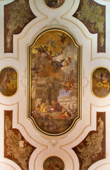 Venice - Ceiling fresco in church Chiesa dei Santi Apostoli