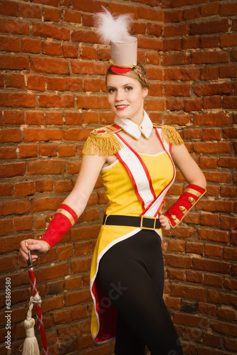 Majorettes girl with cane