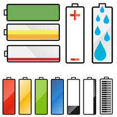 Set of battery graphics
