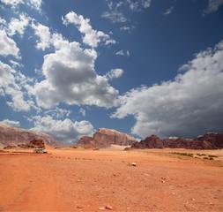 Wadi Rum Desert in southern Jordan