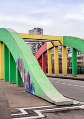 Colorful Bridge in Belgrade