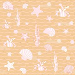 Seamless sea background. Vector illustration.