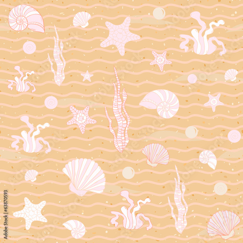Seamless sea background. Vector illustration.