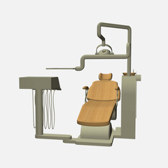 Dentist chair 3d front view