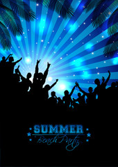 Summer Music Background - Vector