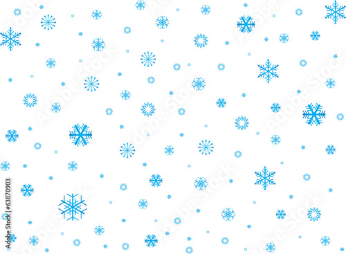 Snowflakes background illustrated on white