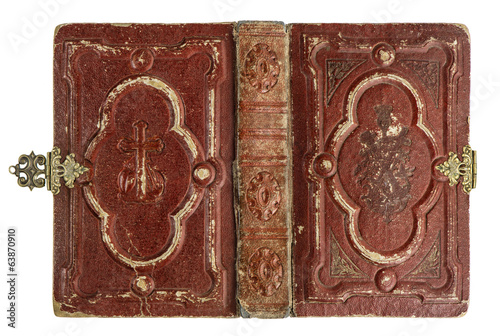old book cover with vintage decoration