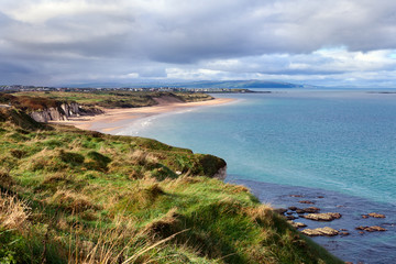 Portrush bay  in County Antrim, Northern Ireland .