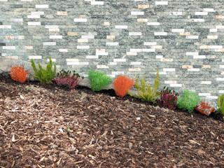 Plastikpflanzen im Vorgarten