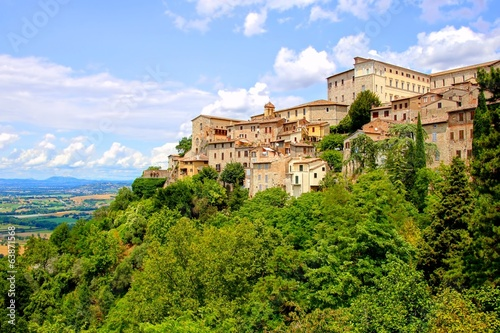 View over the old hill town of Todi, Umbria, Italy