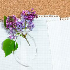 Frühlingsgedanken, Papier, analog, schreiben, Flieder