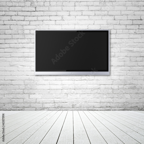 blank wide screen TV