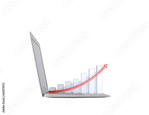 laptop with chart
