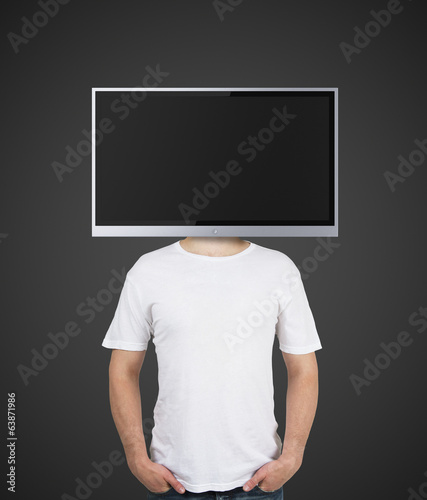 boy with TV instead of head