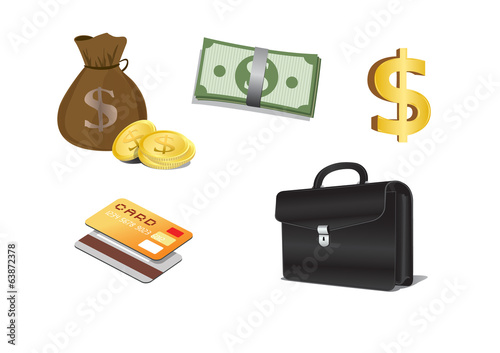 Finance Icons Vector