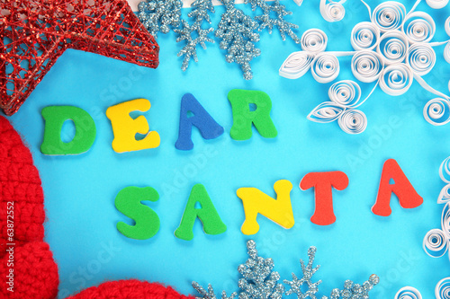 Letter to Santa Claus isolated on white