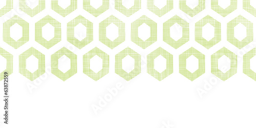 Abstract green fabric textured honeycomb cutout horizontal