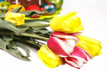 Festive flowers on Easter day