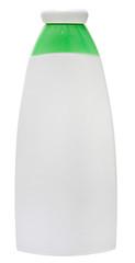 Plastic Bottle with liquid soap on white background. shampoo
