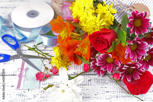 Working place of florist. Conceptual photo