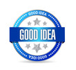 good idea seal illustration design