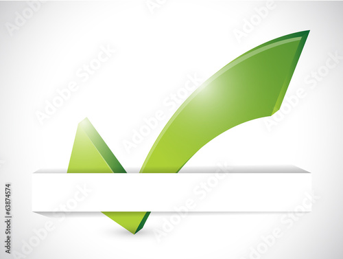 check mark on a white pocket. illustration design