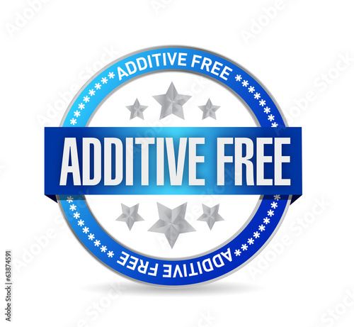 additive free blue seal illustration design