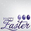 Elegant Easter egg card in vector format.