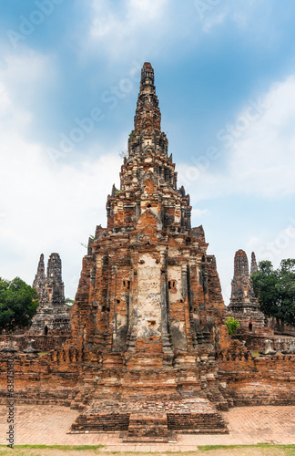 Ruins of ancient Chaiwattanaram temple in Ayuttaya, Thailand