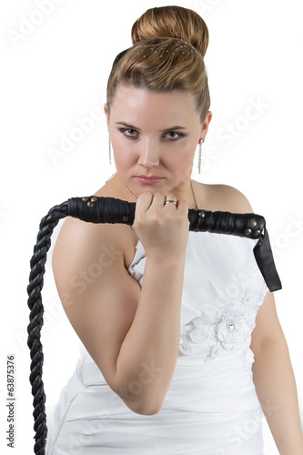 Bride with whip