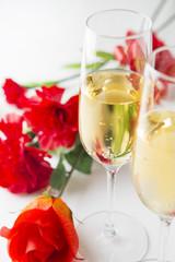 シャンパンとカーネーション