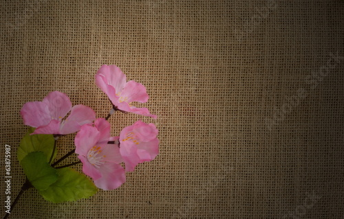burlap texture pattern with floral