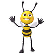 bee looking up