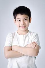 Portrait of Happy asian cute boy