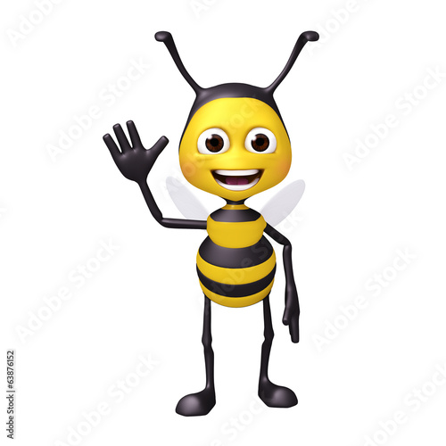 bee welcome pose
