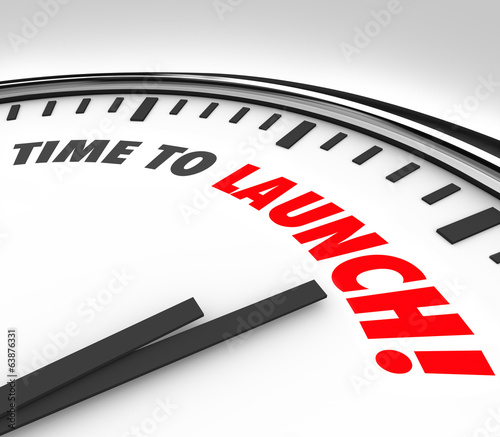 Time to Launch Clock Deadline Countdown New Business Product Com