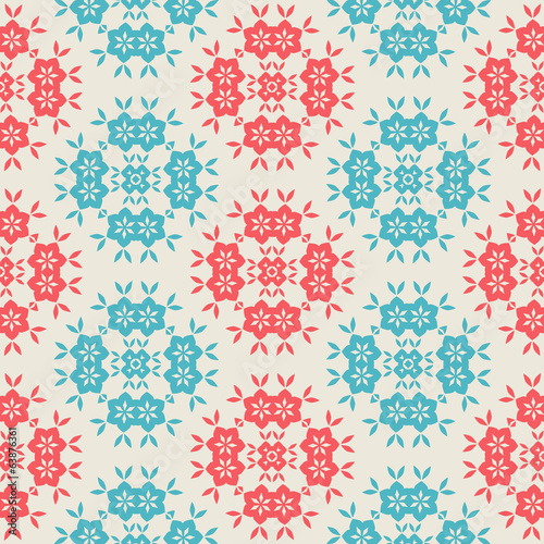 Vintage Seamless pattern  on white background