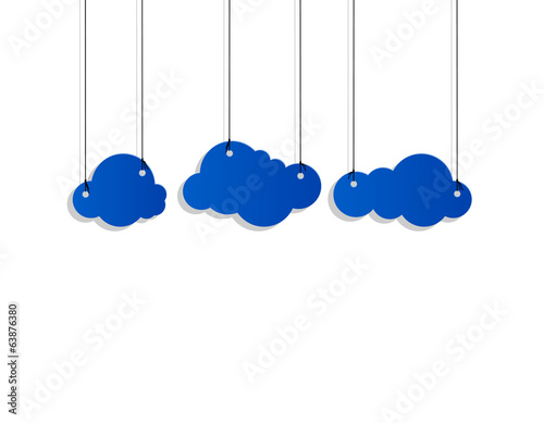cloud style sticker on the ropes
