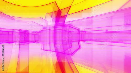 Retro Abstract Blocks Looping Animated Background