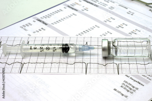 Electrocardiograph and Syringe