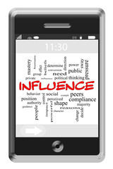 Influence Word Cloud Concept on a Touchscreen Phone