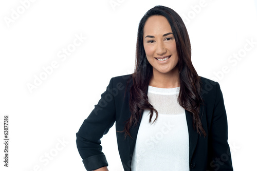 Confident young corporate woman