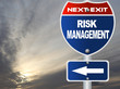Risk management road sign