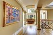 Luxury house interior. Hallway