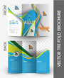 Tennis Competition Tri-Fold Brochure Mock up Design