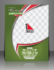 Football Competition Front Flyer & Poster Template.